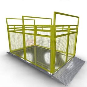 Весы платформенные электронные для взвешивания животных